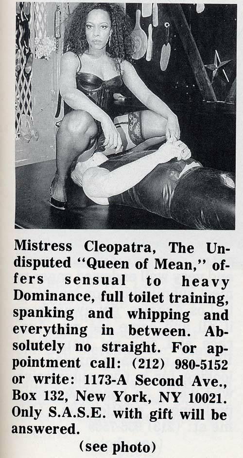 Mistress Cleopatra