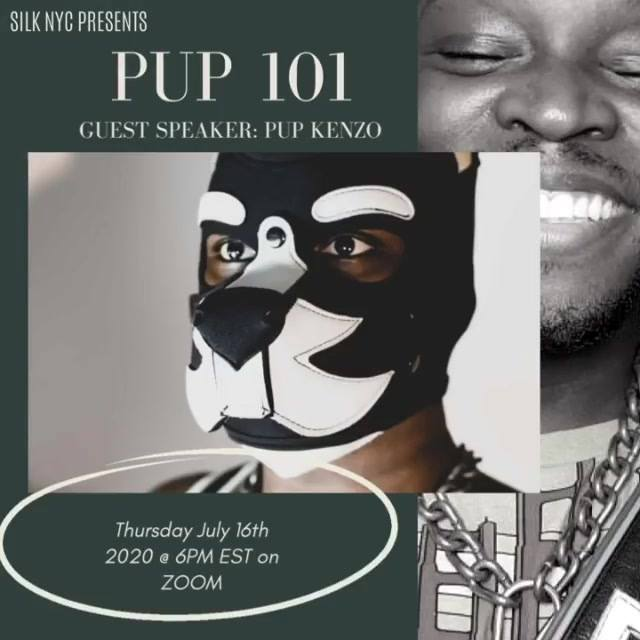 On Thursday July 16th at 6pm EST Via Zoom, special guest speaker @pupkenzo