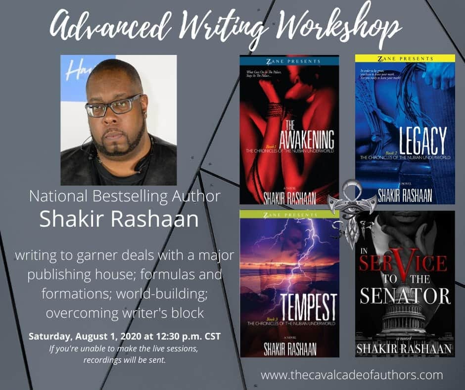 National Bestselling author Shakir Rashaan will host another advanced writing se